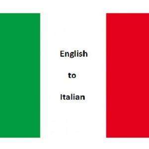 I will manually translate English to Italian