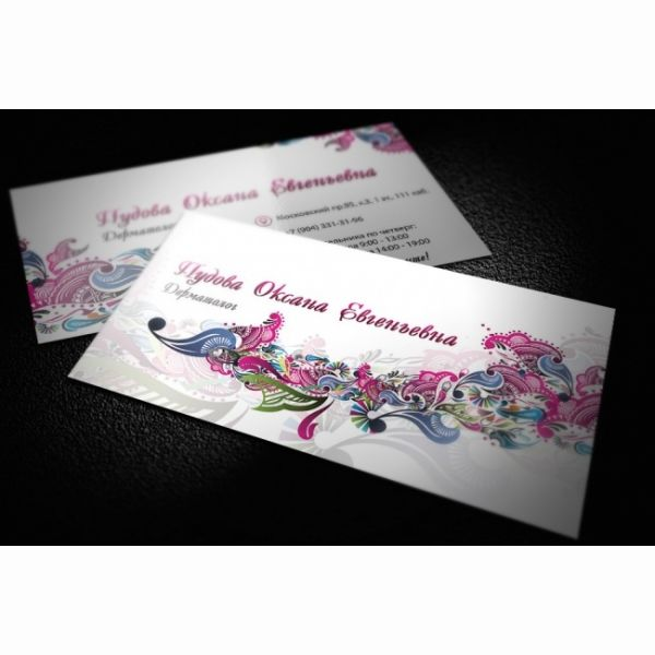 I make the business cards design